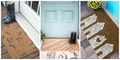 15 DIY Doormats That Are Almost Too Pretty to Wipe Your Feet On  - CountryLiving.com