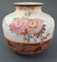 Tapestry Style Burslem vase by Doulton. #antique #vintage #appraisal