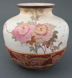 Tapestry Style Burslem vase by Doulton. #antique #vintage #appraisal
