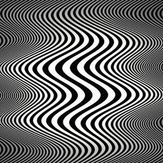 Op art waves (Tribute to Bridget Riley)- by Marco Braun Illusion Kunst, Illusion Art, Principles Of Art Balance, Designers Gráficos, Motif Art Deco, Art Worksheets, Psychedelic Art, Grafik Design, Art Plastique