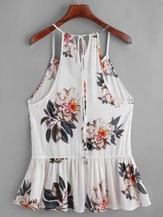 Buy Beautiful Gifts Women Floral Casual Sleeveless Crop Top Vest Tank Shirt Blouse Cami Top at Wish - Shopping Made Fun Cami Tops, Casual Outfits, Fashion Outfits, Fashion Women, High Fashion, Sleeveless Crop Top, Tank Shirt, Ladies Dress Design, Romwe