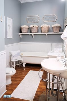 LOTS of before and after photos of every room in the house as well as home accessories and furniture!
