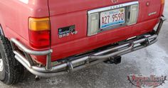 1990 - 1995 Toyota 4Runner Off Road Rear Bumper with Class 2 Hitch