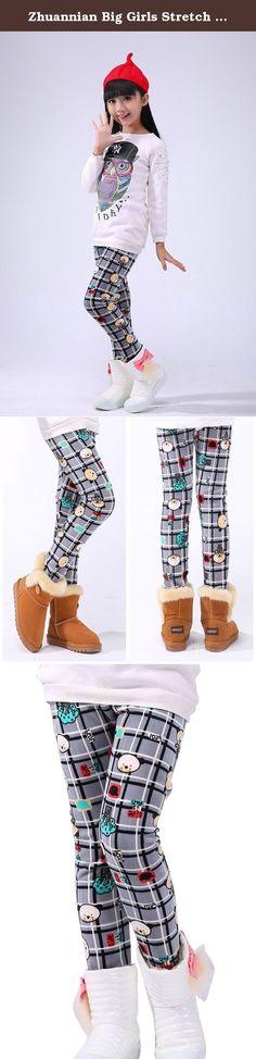 ZHUANNIAN Big Girls Cat Pattern Leggings