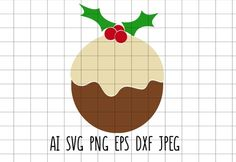 Xmas Pudding, Christmas Pudding, Christmas Svg, Christmas Decorations, Christmas Decor, Christmas Baubles, Christmas Ornaments