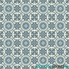 Blue Geometric Tile Style Vinyl Flooring Slip Resistant 2m Lino Cushion Floor Vinyl Flooring Vinyl Flooring Bathroom Vinyl Flooring Kitchen
