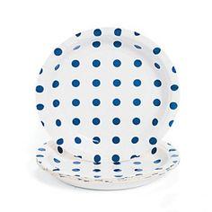 "Blue Polka Dot 7"" Paper Dessert Plate |  6ct $1.99"