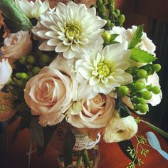 Liz's Bouquet // Flowers for a bride getting married at Ten Mile Station, Breckenridge Colorado.