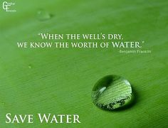 Water, water everywhere but not a drop to drink Just think about it. http://www.environmentcare.in