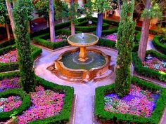 """alhambra gardens, granada, spain. """"all the colors in it are my favorite colors in the world!"""""""