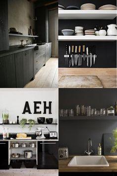 Black kitchen detailing.