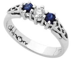 Celtic Engagement Rings with Saphires and Diamond
