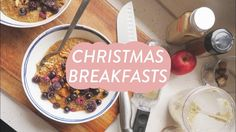 Vegan Christmas Breakfasts   Bread Pudding & Spiced Porridge