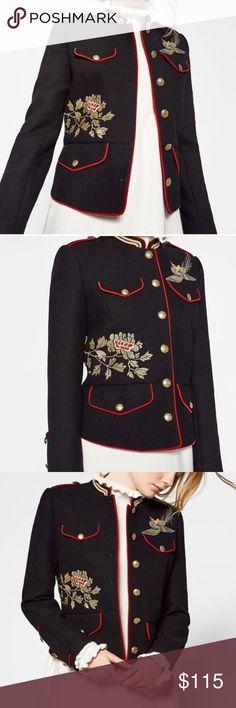 Zara mandarin collar military jacket Zara mandarin collar military jacket Zara Jackets & Coats