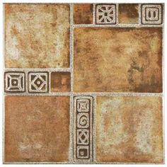 Merola Tile Sonia Beige 17-3/4 in. x 17-3/4 in. Ceramic Floor and Wall Tile (11.3 sq. ft. / case)-FEM18SNB - The Home Depot