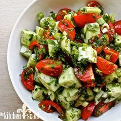 Armenian Cucumber Tomato Salad The Kitchen Scout Cucumber Tomato Salad, Cucumber Recipes, Salad Recipes, Healthy Recipes, Meal Recipes, Top Recipes, Baking Recipes, Healthy Food, Armenian Recipes