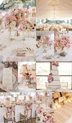romantic pink elegant wedding reception ideas for modern weddings