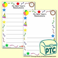 New Year Teaching Resources - Primary Treasure Chest Teaching Activities, Teaching Resources, Teaching Ideas, Ourselves Topic, Page Borders, Colourful Balloons, New Year Celebration, Classroom Displays, Eyfs