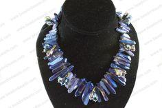 quartz necklace Quartz Necklace, Can Design, Jewelry Making, Beads, How To Make, Fashion, O Beads, Moda, Beading