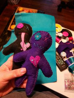 Hand sewn voodoo dolls by Wenn's Weird Creations
