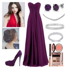 """""""Mackenzie Sims ~ Christmas Ball"""" by accio-hogwarts-81 ❤ liked on Polyvore featuring Anne Sisteron, BERRICLE, Charlotte Tilbury and Casadei"""