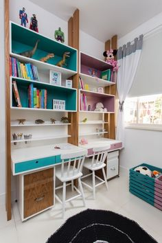 Decorating a kids' room doesn't mean you have to scrimp on style. In fact, it opens up a whole new world of exciting design possibilities, even for small room ideas. Home Room Design, Kids Room Design, Home Office Design, Study Room Decor, College Room Decor, House Beds, House Rooms, Kids Bedroom Furniture, Bedroom Decor
