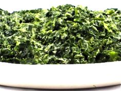 Rich and Dreamy, Skinny Creamed Spinach! With its rich, cheesy, striking flavor, it's no wonder everyone loves this type of spinach dish. You'll thoroughly enjoy my slimmed down recipe with only 95 calories, 6 grams of fat and 3 Weight Watchers POINTS PLUS!