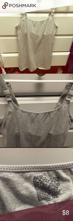 Heather grey Nursing Tank Heather Grey Nursing Tank top. Used, but in great condition. Comfortable and good length. Cotton, soft and stretchy. Gilligan & O'Malley Tops Tank Tops