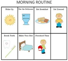 ourhomecreations: Printable Morning and Nightime Routine Charts for Kids