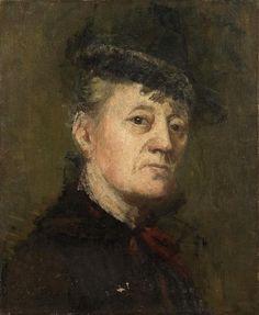 Kielland, Kitty Lange (1843-1914) - Self-Portrait (Private Collection) by RasMarley, via Flickr