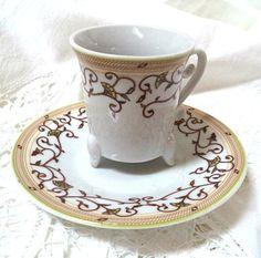 Set 6 Demitasse Allev Cup Saucer Elegant China by FranciesFare