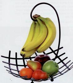 Banana holder with basket