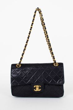 A classic black handbag (Vintage Chanel, I'm really enjoying cross-body styles with gold hardware right now)