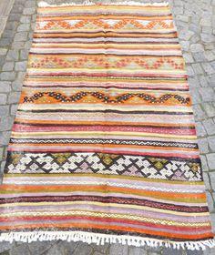Anatolian Rug Turkish Kilim Home Decor Vintage by PillowTalkOnEtsy