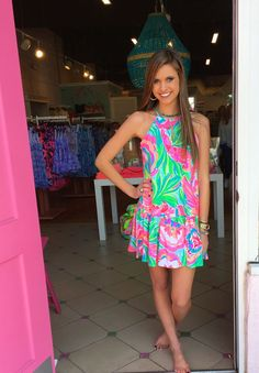 Isabeau Dress Paradise Bound  $168 Lilly Pulitzer Spring 2017  Pink Bee  #yeahTHATgreenville