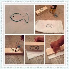 Create a stamp with a rope.  Sticks to a wooden support the rope follow the shape you desire. Color rope and press.