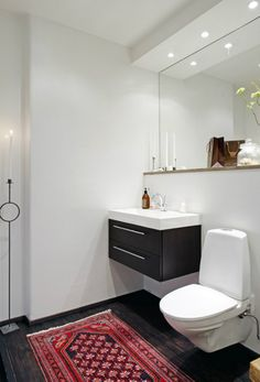 drawer unit + width/depth of basin. black as an alternative to white