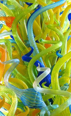 Chihuly--  I love this artist.  I first saw his pieces with grandma in Orlando.  His art will always make me think of grandma. So unique and creative.  Love it!!