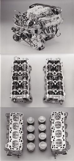 1987 Porsche 928 engine with cylinder head, piston and camshaft detail Porsche 928, Cylinder Head, Vroom Vroom, Cars And Motorcycles, Engineering, Detail, Technology