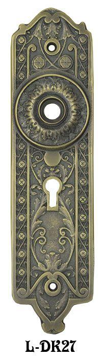 Victorian-Gothic-Style-Brass-Door-Plate-2.25-inchcc-(L-27)