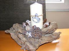 Téli asztaldísz, Dekoráció, Dísz, Karácsonyi, adventi apróságok, Meska