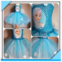 Elsa Face Patch Tutu Dress.   Frozen Tutu Dress. Elsa Tutu Dress. Beautiful & lovingly handmade.   Price varies on size, starting from £25.  Please message us for more info.   Find us on Facebook www.facebook.com/DiddyDarlings1 or our website www.diddydarlings.co.uk