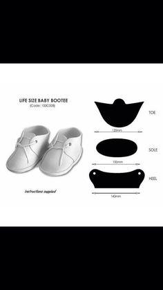 Como hacer botita bebe