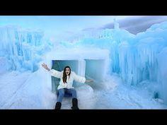 Insane Giant SLIDE through ICE!! - YouTube