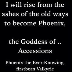 Phoenix the Ever-Knowing, firstborn Valkyrie (Dark Skye by Kresley Cole, Immortals After Dark series)