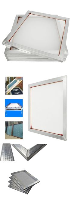 f9d8a6d04fe Screen Printing Frames 183114  4 Pack Aluminum Silk Screen Printing Press  Screens White Mesh 20