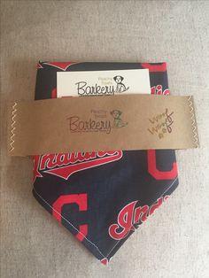 Cleveland Indians Reversible Slip Through Dog Bandanna