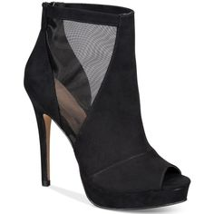Aldo Women's Jaina Platform Dress Booties (150 BRL) ❤ liked on Polyvore featuring shoes, boots, ankle booties, black, black bootie, peep-toe booties, ankle boots, peep toe booties and black platform booties