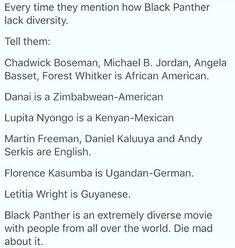 It's literally a film set in the middle of Africa!! Wakanda is meant to be a secluded, tribal African nation. The faces are not going to be pale!