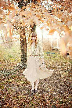Not the only one who is obsessed with Long flowy skirts! CUTE!